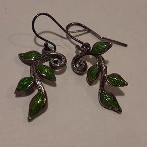 Cathy Waterman True Hearts SS Enamel Earrings